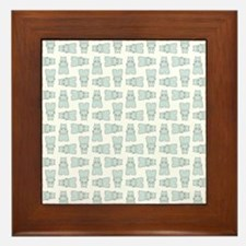 BABY BLUE HIPPOS Framed Tile