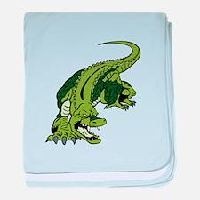 Mean Alligator baby blanket