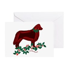 Collie & Holly Greeting Card
