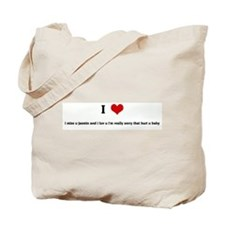 I Love i miss u jasmin and i  Tote Bag