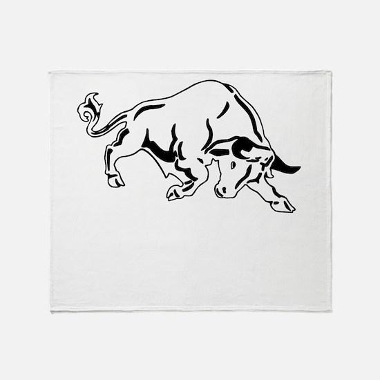 Charging Bull Throw Blanket