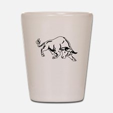 Charging Bull Shot Glass