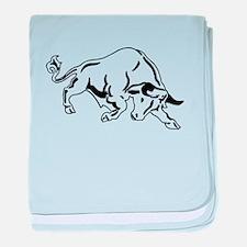Charging Bull baby blanket