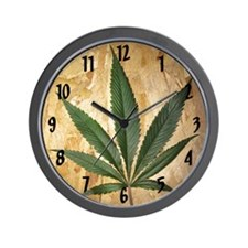 Kush Leaf Wall Clock