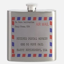 Retired Postal Worker Flask