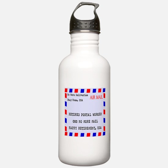 Retired Postal Worker Water Bottle