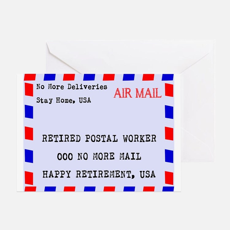 Retired Postal Worker Greeting Cards