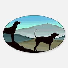 Blue Hills Coonhounds Sticker (Oval)
