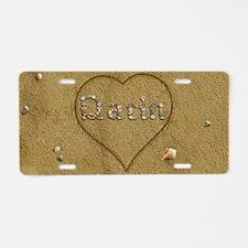 Darin Beach Love Aluminum License Plate