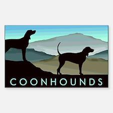 Blue Hills Coonhounds Sticker (Rectangle)
