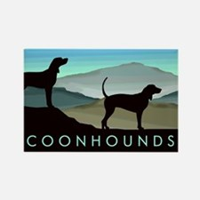 Blue Hills Coonhounds Rectangle Magnet (10 pack)
