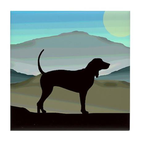 Blue Hills Coonhounds Tile Coaster