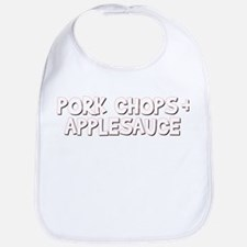 Pork Chops and Applesauce Bib
