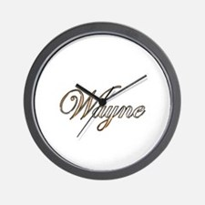Gold Wayne Wall Clock
