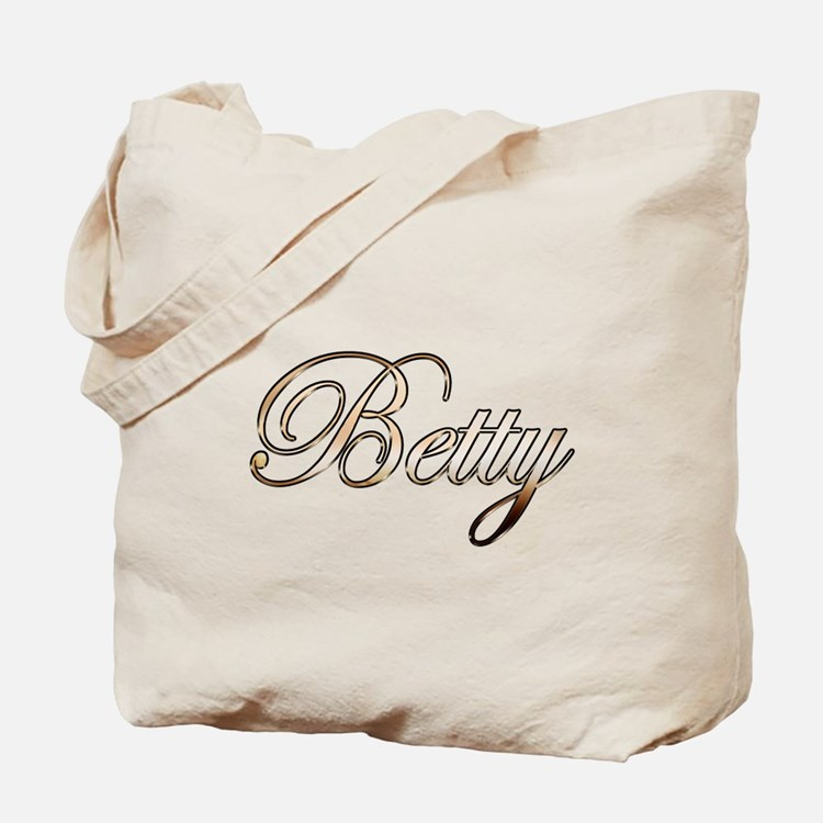 Gold Betty Tote Bag