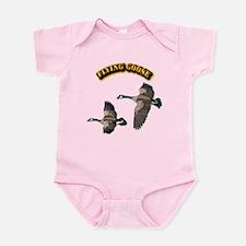 Flying Goose-w text Infant Bodysuit