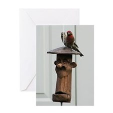 Red Finches II Greeting Card