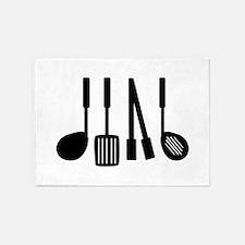 Cooking Utensils 5'x7'Area Rug