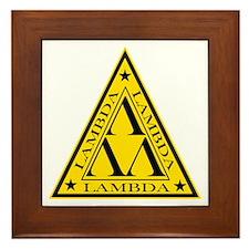 Lambda Lambda Lambda Framed Tile