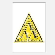 Worn Lambda Lambda Lambda Postcards (Package of 8)