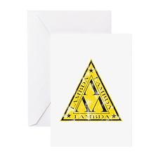 Worn Lambda Lambda Lambda Greeting Cards (Pk of 10