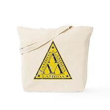Worn Lambda Lambda Lambda Tote Bag