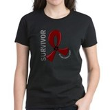 Brain aneurysm survivor Women's Dark T-Shirt