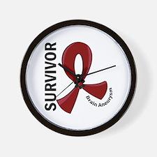 Brain Aneurysm Survivor 12 Wall Clock