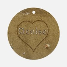 Denise Beach Love Ornament (Round)