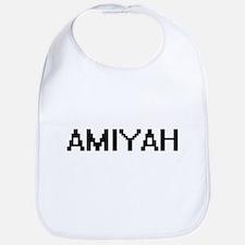 Amiyah Digital Name Bib