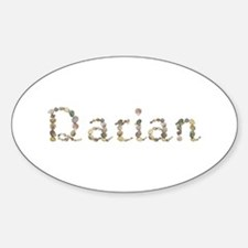 Darian Seashells Oval Decal