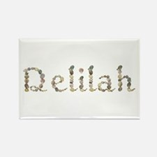 Delilah Seashells Rectangle Magnet