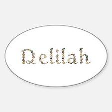 Delilah Seashells Oval Decal