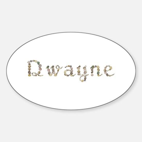Dwayne Seashells Oval Decal
