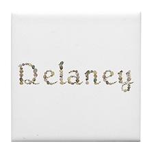 Delaney Seashells Tile Coaster
