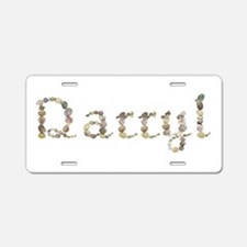 Darryl Seashells Aluminum License Plate