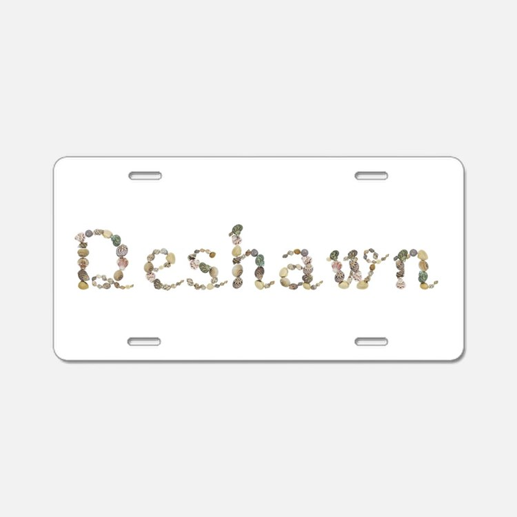 Deshawn Seashells Aluminum License Plate