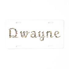 Dwayne Seashells Aluminum License Plate