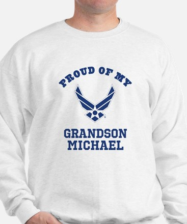 Air Force Grandson Personalized Sweater