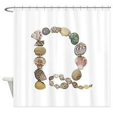D Seashells Shower Curtain