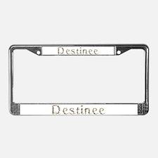 Destinee Seashells License Plate Frame
