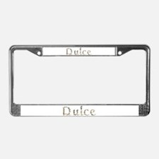 Dulce Seashells License Plate Frame