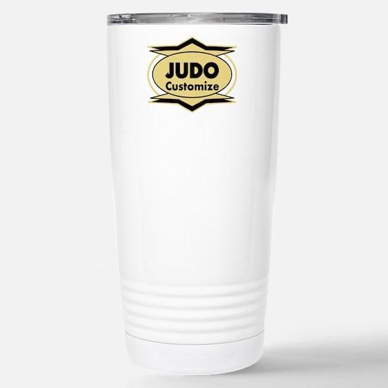 Judo Star stylized Stainless Steel Travel Mug