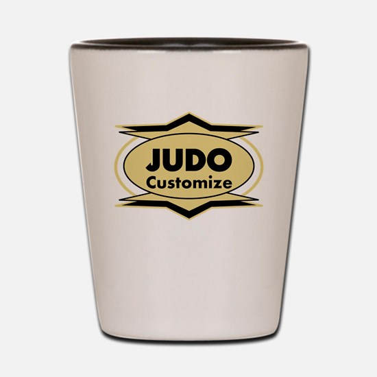 Judo Star stylized Shot Glass