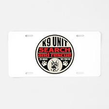 K9 Unit Search and Rescue Aluminum License Plate