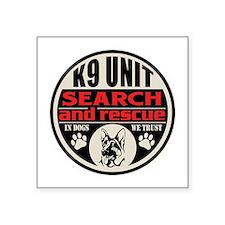 """K9 Unit Search and Rescue Square Sticker 3"""" x 3"""""""