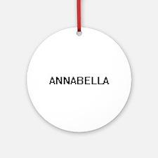 Annabella Digital Name Ornament (Round)