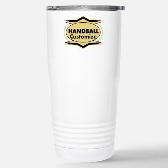 Handball Star stylized Stainless Steel Travel Mug