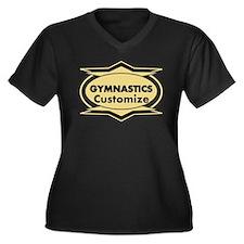 Gymnastics S Women's Plus Size V-Neck Dark T-Shirt