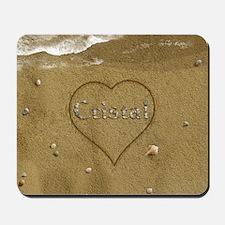 Cristal Beach Love Mousepad